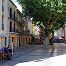 Collioure, place du 18 juin.
