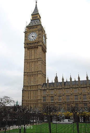 Londres, la tour de Big-Ben.