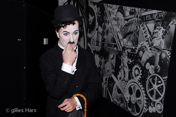 Charlie Chaplin, musée Madame Tussauds, Londres.