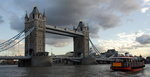 Orage sur le Tower Bridge, Londres.