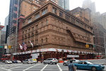 Le Carnegie Hall, 57ème rue, Manhattan, New-York.