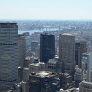 Top of the Rock, vue vers le sud de Manhattan, le Chrysler Building.