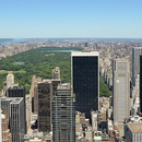 Top of the Rock, vue vers le nord-est de Manhattan, Central Park.