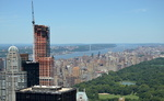 Top of the Rock, vue vers le nord de Manhattan, George Washington Bridge.