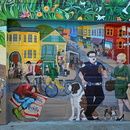 Fresque murale, Balmy alley, Mission District, San Francisco.
