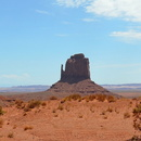 Monument Valley, Panorama de West, East and Merrick Butte, Arizona.