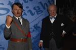 Adolf Hitler et Winston Churchill, musée Madame Tussauds, Londres.