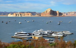 Wahweap Marina, lac Powell, Arizona, Utah.