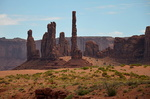 Totem Pole and Yei Bi Chei, Monument Valley.