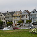 Les Painted Ladies (maisons victoriennes), Alamo square, San Francisco.