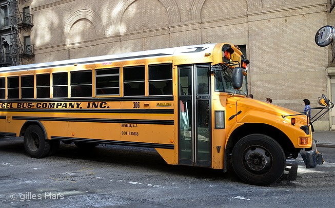 Bus des écoles, New-York.